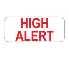 High Alert Labels - 1-1/2In W x 5/8In H