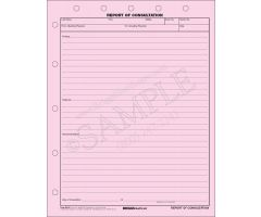Report of Consultation 2-Part Form