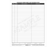 Physicians Order Sheet and Progress Notes