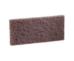 Scouring Pad Boardwalk Heavy Duty Brown NonSterile Synthetic Fiber 4 X 10 Inch Reusable