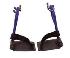 Swing Away Footrests, Blue