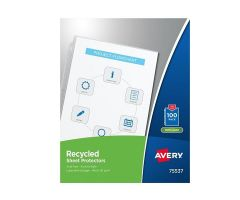 Avery 40% Recycled Economy-Weight Clear Sheet Protectors 100/Box 100/Bx