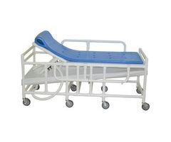 Pediatric shower gurney with five position elevating headrest