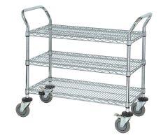 AliMed  Wire Utility Cart, 3-Shelf