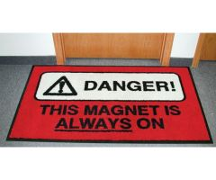 MRI Floor Mat Carpet Warning Sign