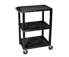 Luxor Tuffy Utility Cart, 3-Shelf