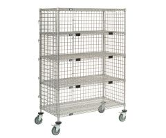 Enclosed Wire Shelf Carts
