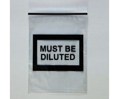 Must Be Diluted Bags, 6 x 8