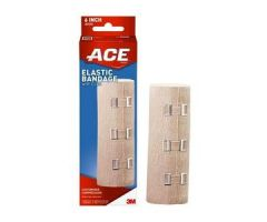 3M ACE Elastic Bandage, with Metal Clips, 6""