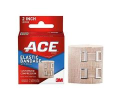"""3M ACE Elastic Bandage, with Metal Clips, 2"""""""