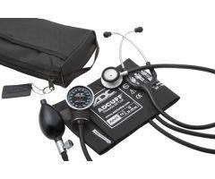 Pro's Combo V Pocket Aneroid / Stethoscope Kit, Adult, Black