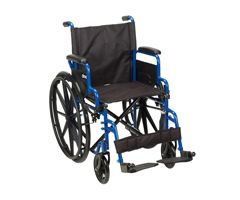 "Drive Blue Streak Wheelchair-Swing Away Footrests-18"" Seat"