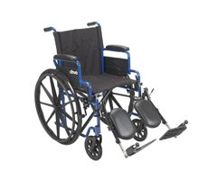 "Drive Blue Streak Wheelchair-Elevating Leg Rests-20"" Seat"