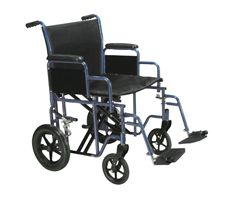 "Drive Bariatric Wheelchair-Swing Away Footrest-22"" Seat-Blue"