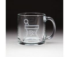 Glass Coffee Mug with Rx Logo