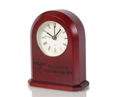 Cherry Desk Clock - Laser Personalized