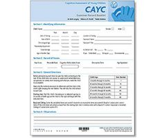 CAYC Examiner's Record Booklets (25)