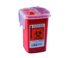 Phlebotomy Sharps Container with Needle Remover 3-1/2 x 3-1/2 x 10