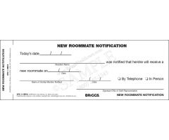 Notification of New Roommate
