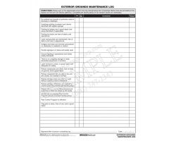 Exterior Grounds Maintenance Log CFS14-18