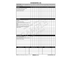 Housekeeping Log Form