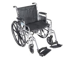 Drive Chrome Sport Wheelchair-Desk Arms-Swing Footrest-18""