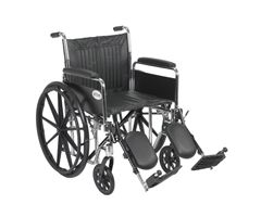 Drive Chrome Sport Wheelchair-Full Arms-Elevating Leg Rest-20""