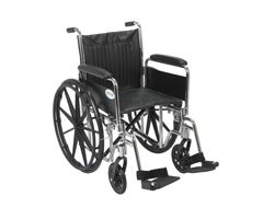 Drive Chrome Sport Wheelchair-Full Arms-Swing Footrest-20""