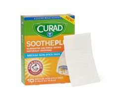 CURAD SoothePlus Medium Nonstick Pad with Baking Soda