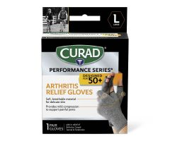CURAD Performance Series 50+ Arthritis Support Gloves,Antimicrobial,Size L CURSR19400LDH