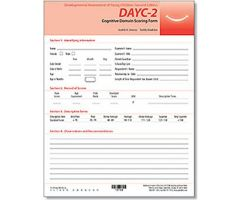 DAYC-2: Cognitive Domain Scoring Forms (25)