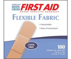 American White Cross Fabric Adhesive Strips by Dukal Corporation DKL1580033
