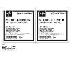 Foam Needle Counter with Adhesive-DYNJNC10ABNS