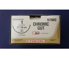 "Chromic Gut Suture, G-3, Size 4-0, 18"""