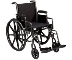 "K3 Wheelchair 20"" x 16"" removable desk-length arms"