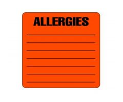 Chart Label - Allergies L-2051