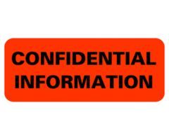 Chart Label  Confidential Information