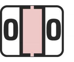 End Tab Numeric Filing Label - 0
