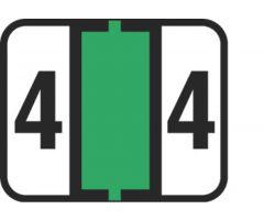End Tab Numeric Filing Label - 4