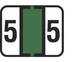 End Tab Numeric Filing Label - 5
