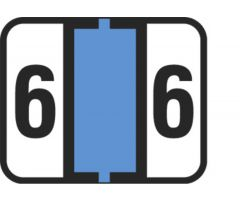 End Tab Numeric Filing Label - 6