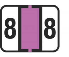 End Tab Numeric Filing Label - 8