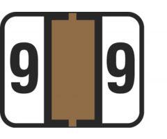 End Tab Numeric Filing Label - 9