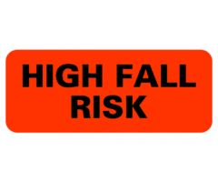 Chart Label  High Fall Risk