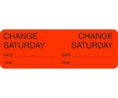 Label - Change Day - Saturday