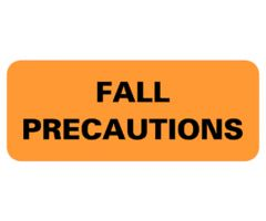 Chart Label  Fall Precautions L 2183