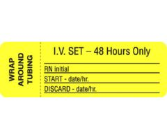 IV Set Label - 48 Hours Only