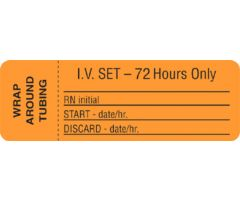 IV Set Label - 72 Hours Only