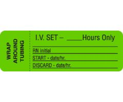 IV Set Label - ___ Hours Only