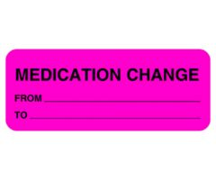 Chart Label - Medication Change